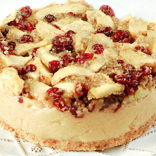Vegan Apple And Cranberry Cheesecake