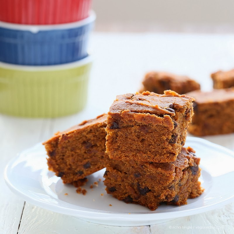 Sweet Potato Blondies With Chocolate Chips