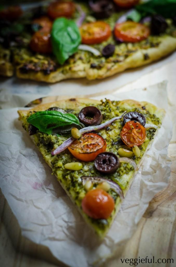 Vegan Pesto Pizza - The Vegan Food Blog
