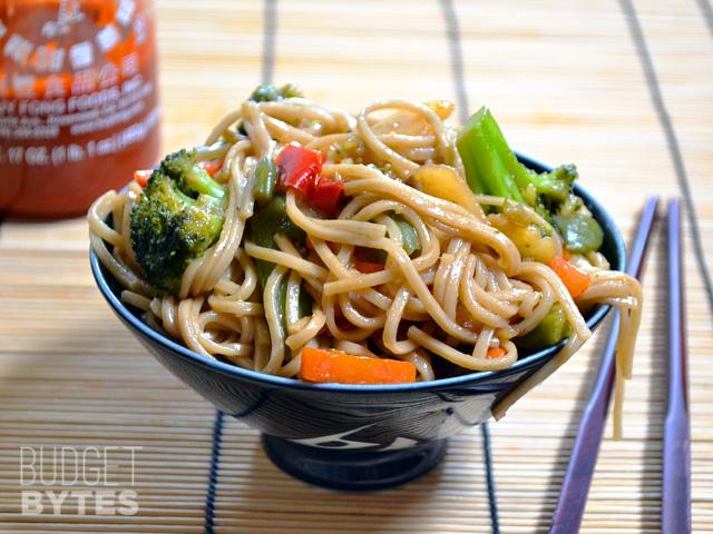 Vegan Teriyaki Noodle Bowls
