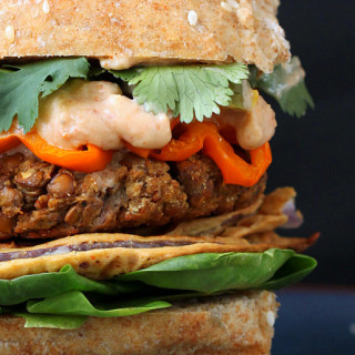 Cauliflower And Red Lentil Vegan Burger