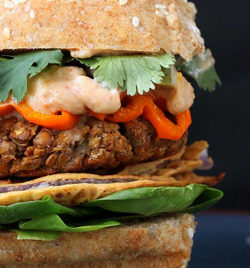 Cauliflower And Red Lentil Vegan Burger