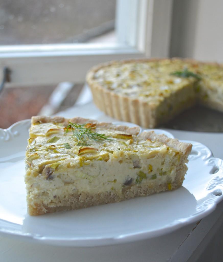 Leek and Mushroom Vegan Quiche - The Vegan Food Blog
