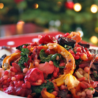 Roasted Winter Veges With Quinoa