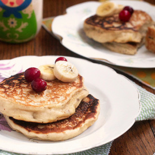 Eggnog with Banana Pancakes