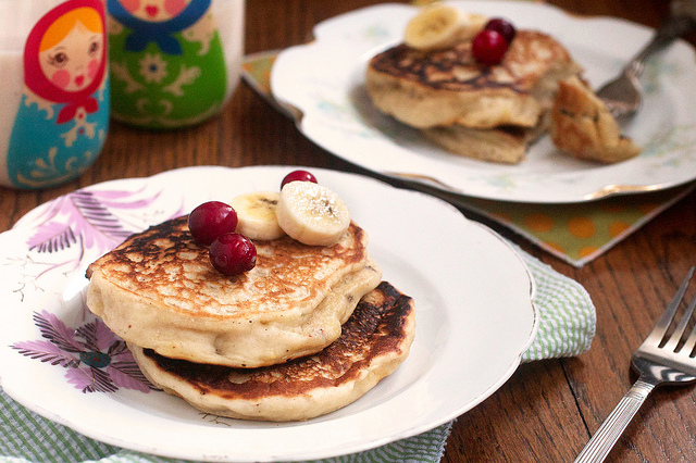 Eggnog with Banana Pancakes