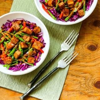 Cabbage Bowl with Peanut-Sriracha Tofu