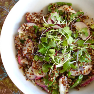 Quinoa Salad with Radish and Snap Peas
