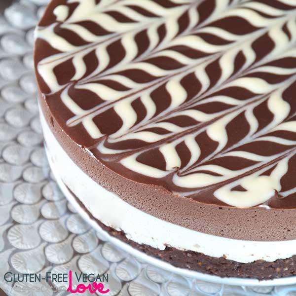 Raw Black and White Chocolate Cake
