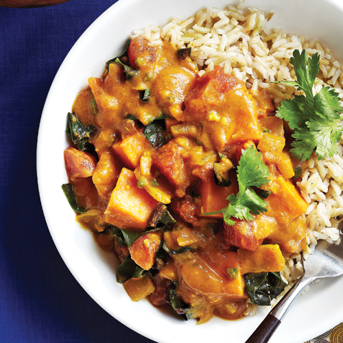 Spicy Chard with Sweet Potato Peanut Stew - The Vegan Food Blog