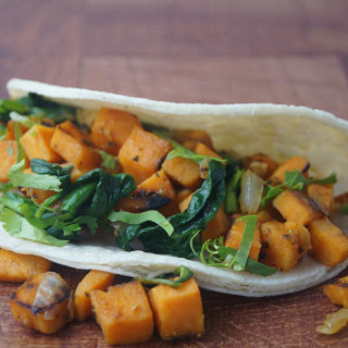 Sweet Potato and Spinach Tacos