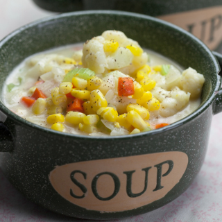 Cauliflower and Corn Chowder