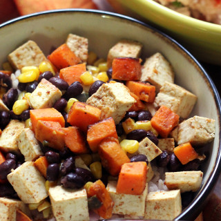 Tofu and Black Bean Burrito Bowls
