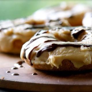 Vegan Chocolate and Caramel Doughnuts