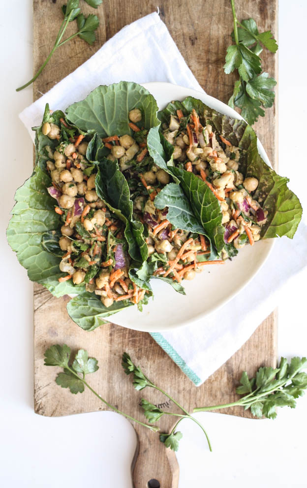 Chickpea Collard Green Tacos