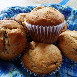 Eggless Banana And Walnut Muffins