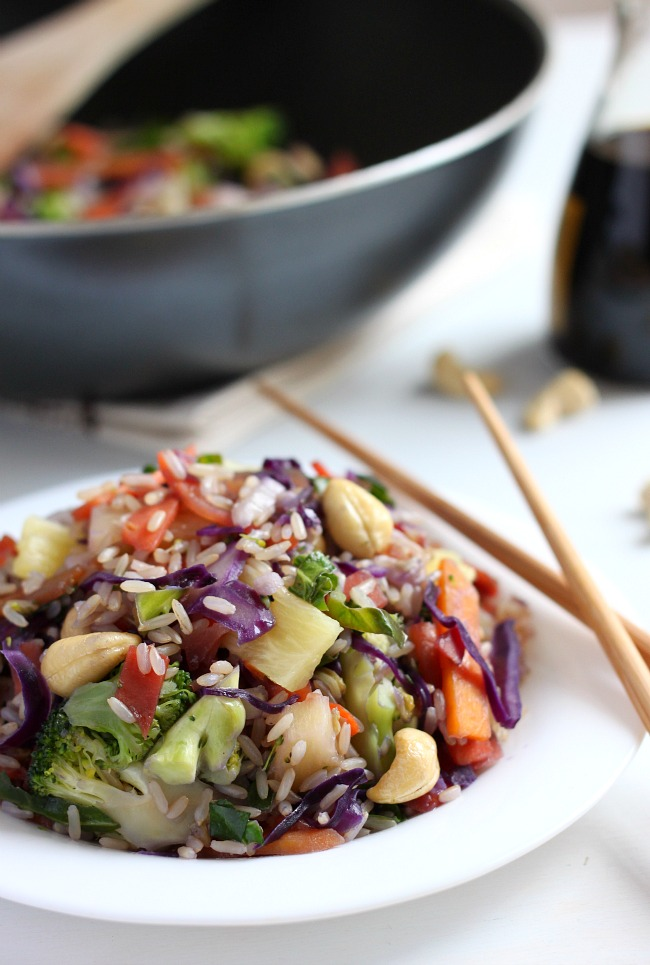 Cashew and Pineapple Quick Stir Fry