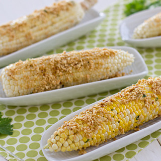 Grilled Cob Corn With Roasted Peanuts