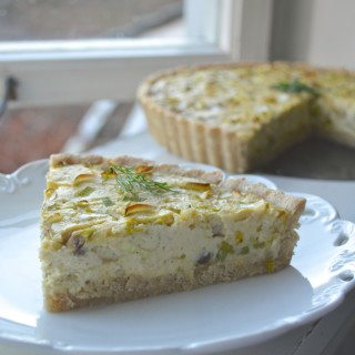 Leek and Mushroom Vegan Quiche