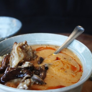Marinated Mushroom and Squash Soup