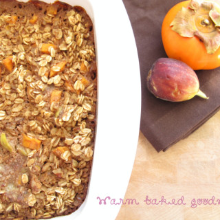 Persimmon and Fig Baked Oatmeal