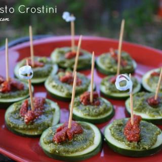 Pesto Crostinis