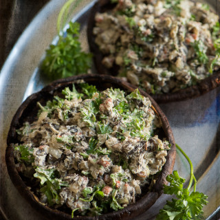 Stuffed Mushrooms with Sunflower Seed Sage