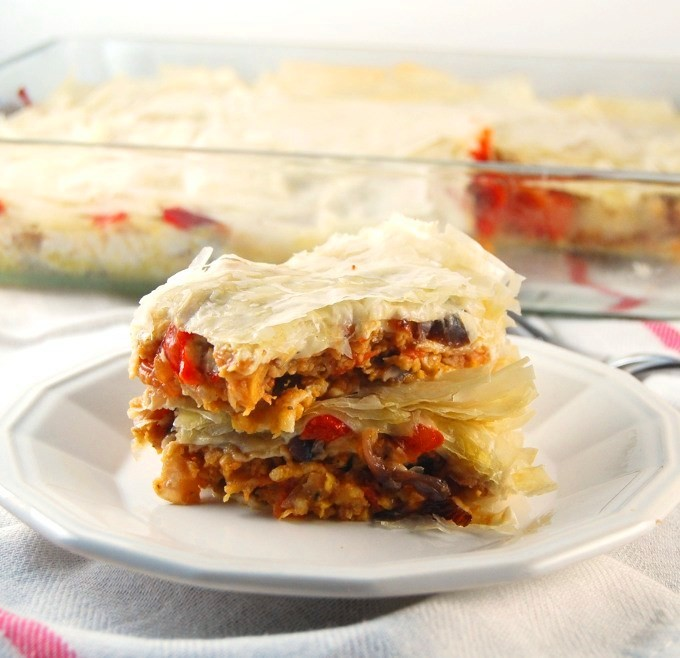 Filo Lasagna with Roasted Veggies