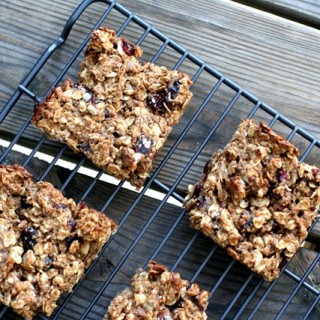 Cranberry and Walnut Granola Bars