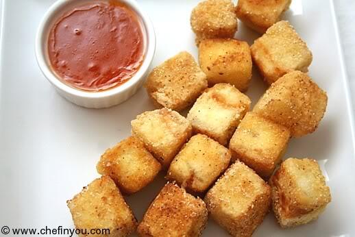 Crispy Fried Tofu with Homemade Sweet Chili Sauce