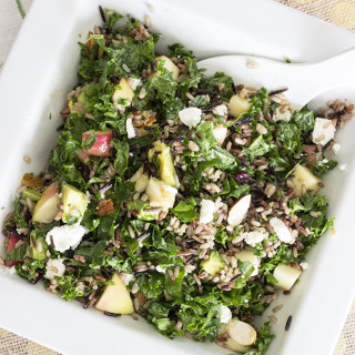 Wild Rice and Kale Salad